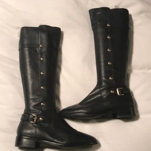 Michael Kors riding boots black